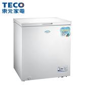 [TECO 東元]138公升 上掀式單門冷凍櫃 RL1417W