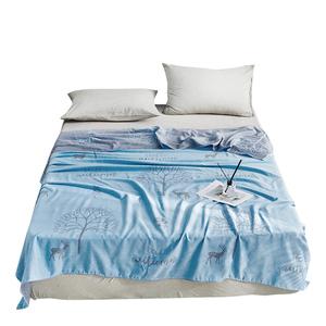 【BELLE VIE】色織全棉雙層紗空氣毯(5x6.5)北歐秘境