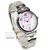 Daniel Wang 流行美學 簡約鑲鑽數字時刻腕錶 女錶 石英錶 防水手錶 學生錶 D3168紅粉