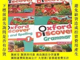 二手書博民逛書店英文原版:Oxford罕見DIScover1。Student Book、workbook、Grammar Writ