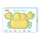 genki bebi 元氣寶寶 螃蟹矽膠止滑餐盤