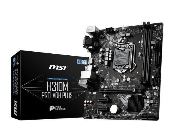 微星MSI H310M PRO-VDH PLUS Intel 1151主機板