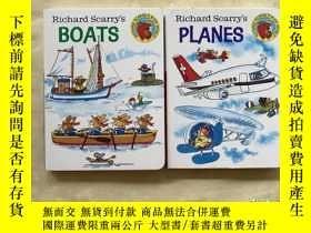 二手書博民逛書店英文原版罕見Richard Scarry s Boats斯凱瑞童書:船+飛機 兩冊合售Y292071 Rich