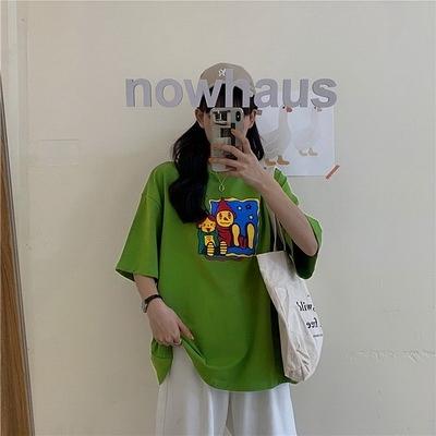 (下殺)彈性棉市場價超夯短袖t恤女韓版寬鬆網紅【08SG06646】