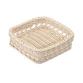 科德斯簍空正方形編織籃W20 米白