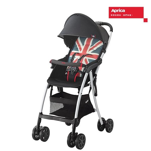 Aprica愛普力卡輕量型單向四輪嬰幼兒手推車(Magicalair Plus S 英倫風) 6650元