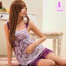 【紫星情趣用品】迷濛夢境!浪漫蕾絲二件式睡衣