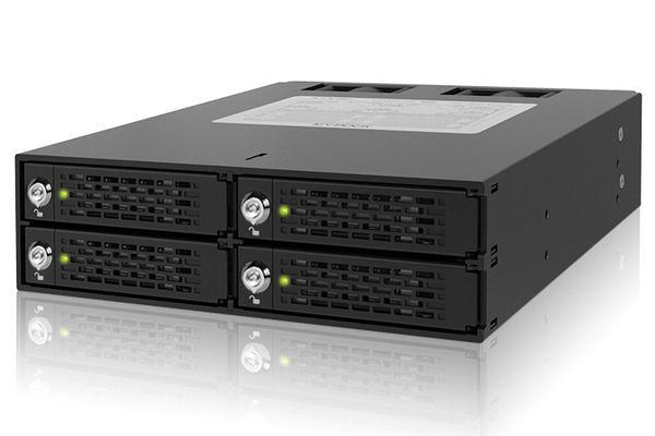 [富廉網] ICY DOCK ToughArmor MB994SK-1B 四層 2.5 SATA/SAS HDD/SSD 鑰匙鎖 硬碟抽取盒