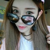 正韓墨鏡墨鏡新款潮女士太陽眼鏡  禮物圓臉復古韓國個性優雅圓形【快速出貨好康八折】