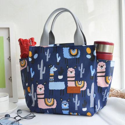 保冷袋 手提袋便當包保溫韓版防水大號媽咪包鋁箔耐髒加厚可愛帶飯的包 果果輕時尚