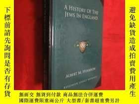 二手書博民逛書店A罕見History of the Jews in England (小16開,硬精裝) 【詳見圖】Y5460
