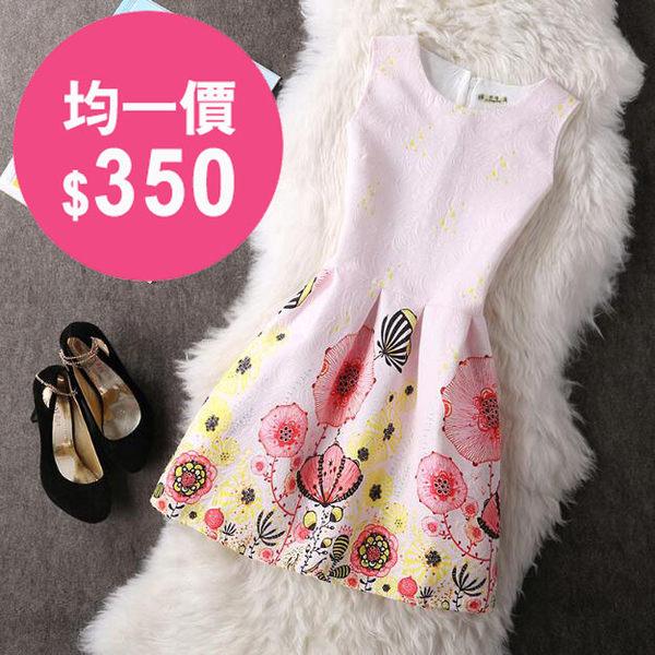 洋裝 韓版 小香風連身裙蓬蓬裙 小禮服 花漾小姐【預購】