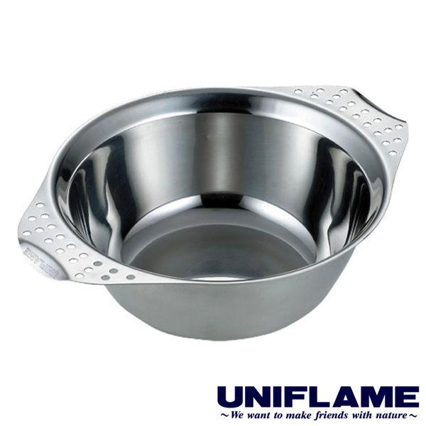 【日本UNIFLAME】雙耳隔熱不銹鋼碗850ml 餐碗 湯碗 隔熱碗餐具 戶外 露營 野炊 U666319