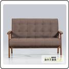 {{ 海中天休閒傢俱廣場 }} G-12 摩登時尚 客廳系列 564-4 古力棕色2人沙發