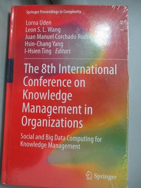 【書寶二手書T1/大學資訊_YCC】The 8th International…-Social and Big Data Computing..._Uden