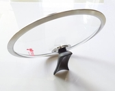 韓國通用不粘鍋玻璃蓋30cm/32cm不銹鋼化玻璃蓋可立式防溢鍋蓋