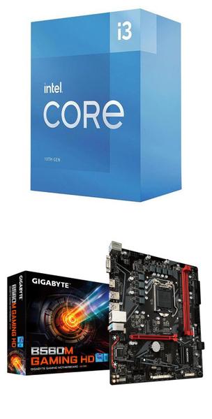 【自組DIY兩件組I3】Intel i3-10105+技嘉 B560M GAMING HD