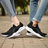 休閒鞋情侶跑步鞋黑色運動鞋透氣鞋 千千女鞋