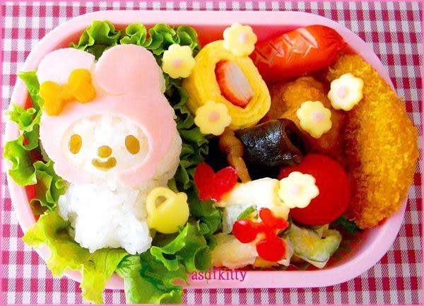 廚房【asdfkitty】美樂蒂手把飯糰模型含起司壓模組-日本正版商品