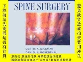 二手書博民逛書店Thoracoscopic罕見Spine Surgery:-胸腔鏡脊柱手術:Y361738 Curtis A.