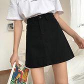 牛仔裙夏季2018新款韓版復古純色高腰顯瘦半身裙女百搭學生休閒牛仔短裙洛麗的雜貨鋪