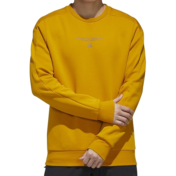 ADIDAS TH SWEAT SILO 男裝長袖T恤大學T 休閒口袋拉鍊棉質 土黃 GM4427