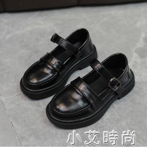 女童黑色皮鞋2021春季新款軟底兒童學院風韓版小單鞋瑪麗珍公主鞋 小艾新品