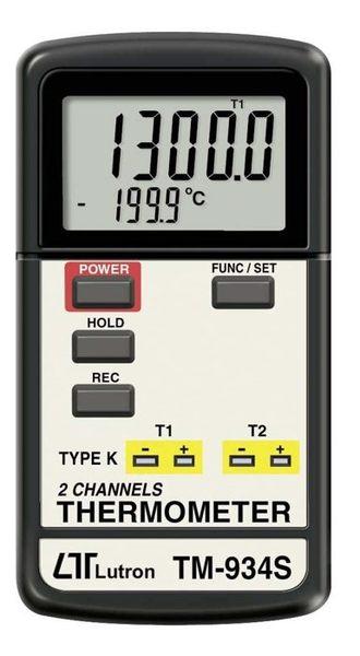 TECPEL 泰菱 》TM-934S 雙組溫度計 溫度計 TYPE K 熱電偶 雙顯示
