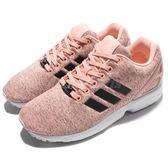 【六折特賣】adidas 休閒慢跑鞋 ZX Flux W 粉紅 黑 秋冬 保暖材質 基本款 女鞋【PUMP306】 BB2260