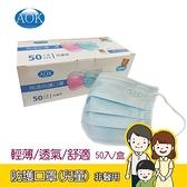 AOK 飛速 防護口罩(兒童-S) 50入/盒 一次性口罩 (非醫用)