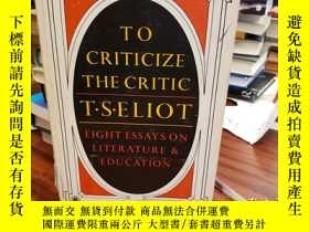 二手書博民逛書店To罕見Criticize The Critic: And Ot