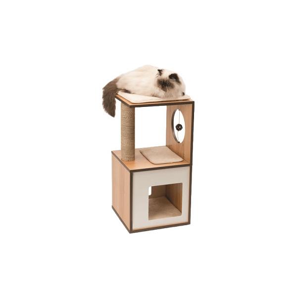 寵物家族-HAGEN 赫根Vesper 貓用實木精品家具 跳台-包廂(核桃木)