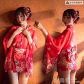 情趣內衣和服女正裝睡衣女開衫櫻花性感日本學生傳統復古薄款雪紡 鹿角巷