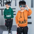 男童秋裝套裝2018新款韓版長袖兒童裝中大童大口袋衛衣兩件套潮品 套裝 男童裝(8歲以上)