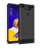 imak Vega 碳纖維紋 氣囊殼 華碩 Zenfone 6 ZS630KL 手機殼 全包 四角 拉絲 保護套 矽膠套