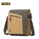 【TROOP】傳統簡約HERITAGE單肩包/TRP0431GC(綠駝色)