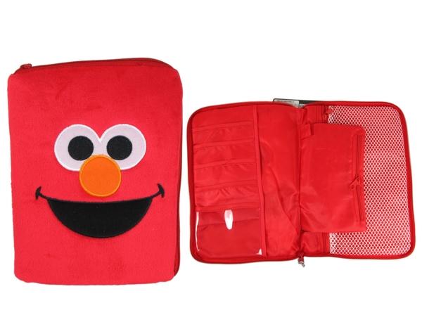 【卡漫城】 Elmo 旅行 收納包 絨毛 ㊣版 多功能收納 化妝包 過夜包 分類包 芝麻街 Sesame Street