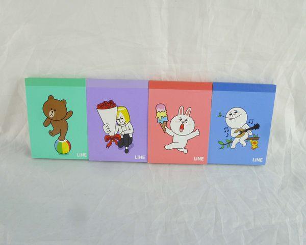 【震撼精品百貨】LINE FRIENDS_兔兔、熊大、饅頭人、詹姆士~小便條 『共4款』