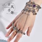 手鍊 紫霞仙子手鍊古風古代飾品漢服配飾流蘇古裝鈴鐺手鍊女 會響 寶貝計畫 618狂歡
