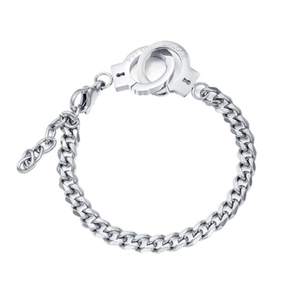 【5折超值價】時尚精美歐美宮格手銬造型女款鈦鋼手鍊