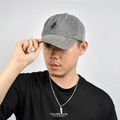 老帽 簡單電鏽黑色牛仔棒球帽NHA52