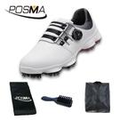 PGM 高爾夫男士球鞋 旋轉鞋帶球鞋 防水防滑鞋子 GSH094WBLK