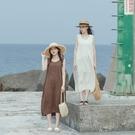 Queen Shop【01085401】下縮口無袖日系棉麻洋裝 兩色售*現+預*