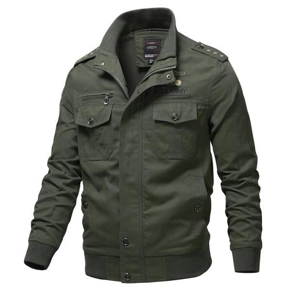 秋季休閑飛行員夾克外套 日系工裝男生外套 簡約男士外套 潮流外套潮牌上衣 男外套時尚韓版外套