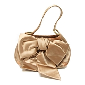 SAINT LAURENT YSL 聖羅蘭 橘色緞面手提包Ribbon Bag 【二手名牌 BRAND OFF】
