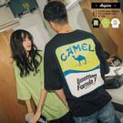 短T 潮流翻玩 CAMEL Benetton F1 五分袖寬鬆短T【A8823】oversize 情侶 韓國