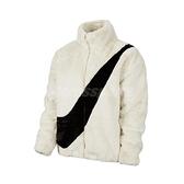 Nike 外套 NSW Faux Fur Jacket 白 黑 女款 羔羊外套 絨毛 運動休閒 【ACS】 CU6559-238