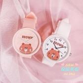 兒童手錶 大兒童手錶女孩防水小學生韓版簡約可愛初中女童軟妹玩具公主粉色 5色