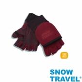 [SNOW TRAVEL] AR-47 / WINDBLOC防風保暖半指兩用手套/酒紅/M號