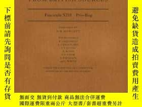 二手書博民逛書店Dictionary罕見Of Medieval Latin From British Sources: Fasci